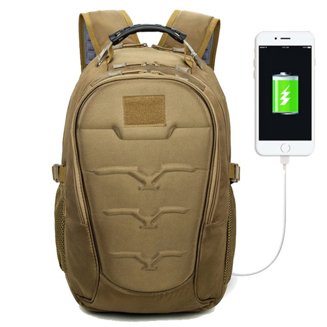 CAMO BACKPACK USB CHARGER