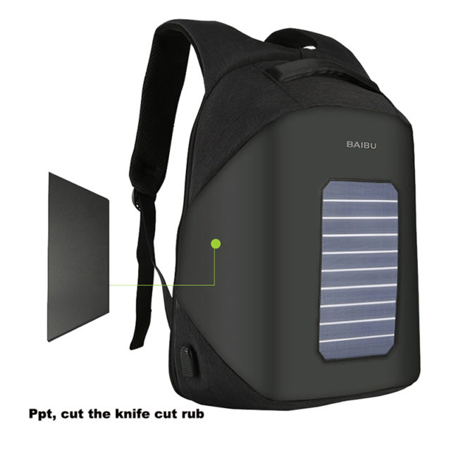 SOLAR BACKPACK PHONE TABLET CHARGER