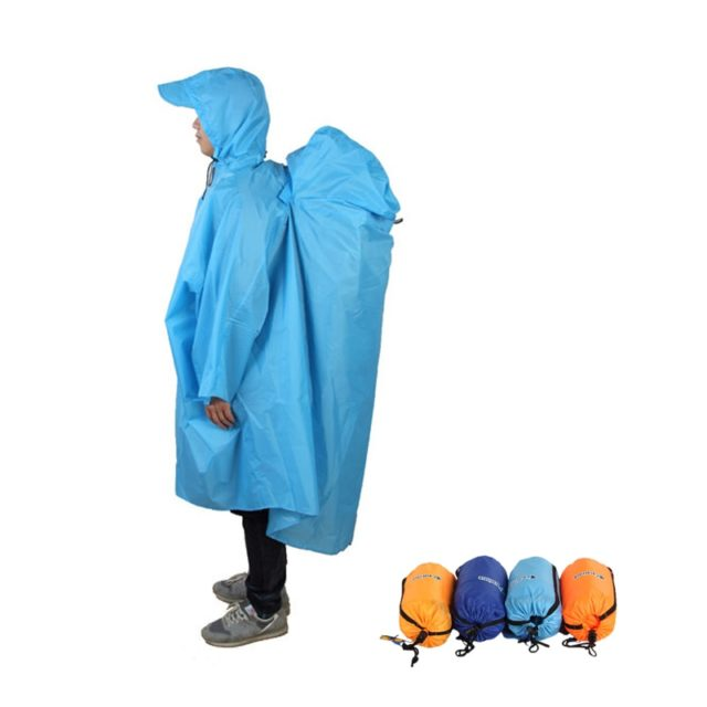 Outdoor Camping Rain Coat with Backpack Cover