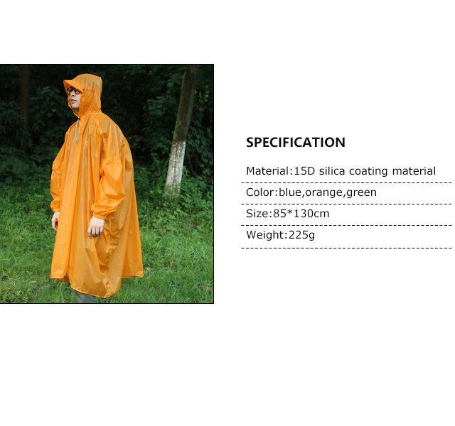 Outdoor Lightweight Silicone Raincoat