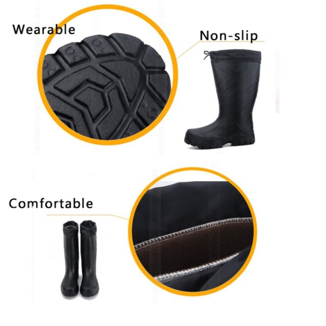 Men's Middle Calf Rubber Rain Boots