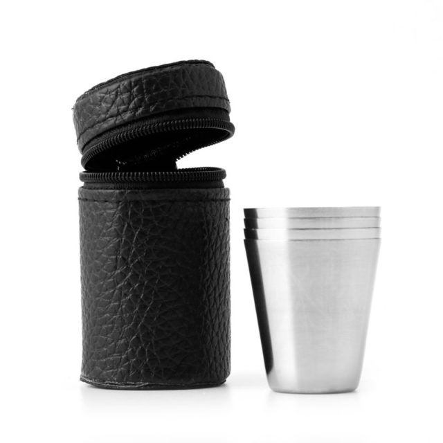 Useful High Quality Durable Stainless Steel Camping Shot Glasses Set