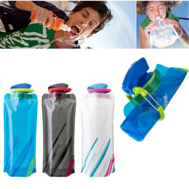 Striped Reusable Soft Water Bottle