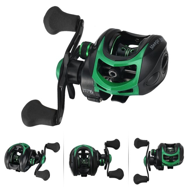 Waterproof Left / Right Hand Fishing Reel with Gear Ratio: 9.1:1