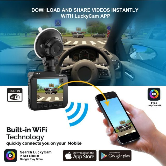 GPS WiFi Dash Camera Full HD
