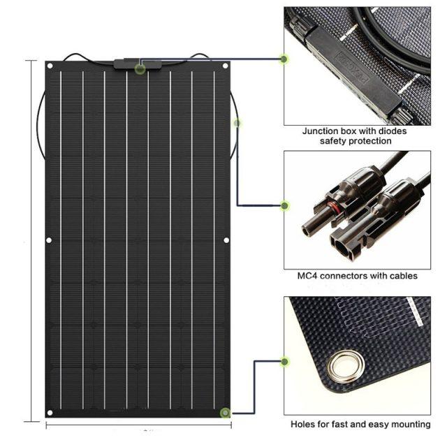 Portable Flexible Mono Solar Panel