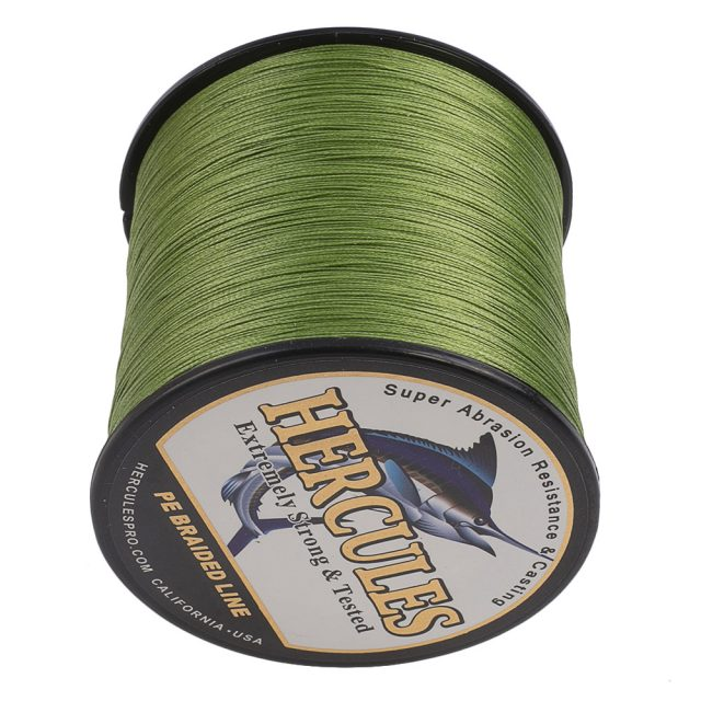 8 Strands Braided Army Green PE Fishing Line