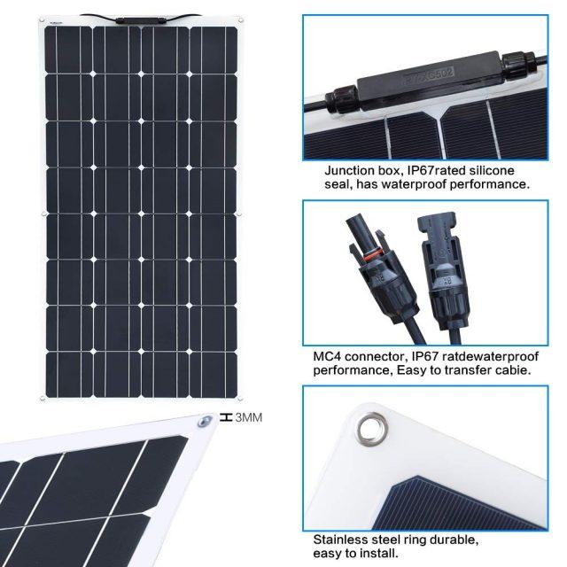400W Flexible Solar Panel for Garden