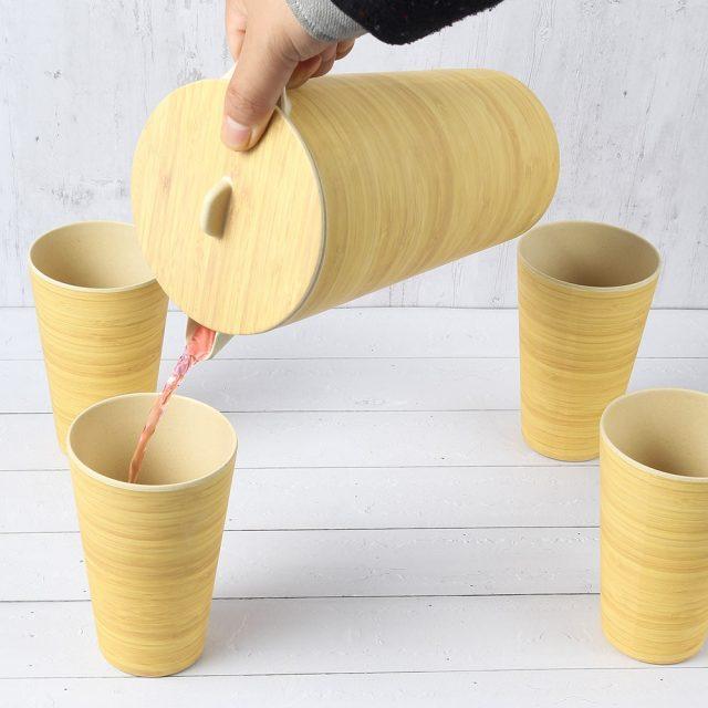 Bamboo Fiber Tumbler and Cups Set