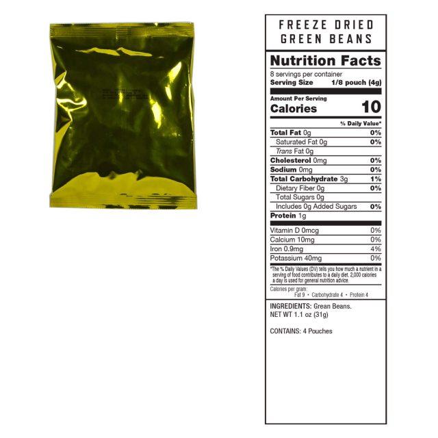 120 Serving Freeze Dried Vegetable Bucket