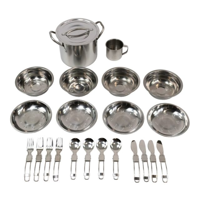 4 Person Stainless Steel Cooking Set